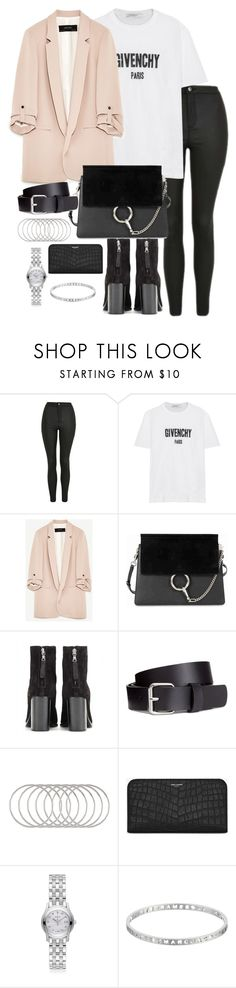 """Untitled #3515"" by theeuropeancloset ❤ liked on Polyvore featuring Topshop, Givenchy, Chloé, rag & bone, H&M, Melissa Joy Manning, Yves Saint Laurent, Gucci and Marc by Marc Jacobs"