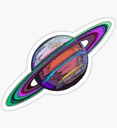 """Saturn: The Ringed Planet"" Stickers by Havocgirl Stickers Cool, Tumblr Stickers, Phone Stickers, Printable Stickers, Planner Stickers, Frühling Wallpaper, Snapchat Stickers, Aesthetic Stickers, Sticker Design"