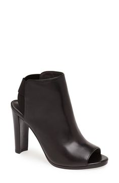 Free shipping and returns on Stuart Weitzman 'Here It Is' Open Back Bootie (Women) at Nordstrom.com. A smooth leather finish intensifies the modern appeal of a peep-toe ankle bootie set on a lofty stacked heel. <br><br>Stuart Weitzman shoes are favorites among editors, stylists and celebrities – and it's no wonder. Each Stuart Weitzman shoe is crafted in Spain with a keen attention to detail and made to feel as great as it looks.