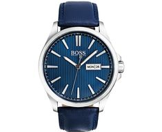 Hugo Boss Men's The James Blue Leather Strap Watch 1513465 James Blue, James 3, Hugo Boss Watches, Boss Black, Hand Watch, Hugo Boss Man, Blue Band, Smooth Leather, Fashion Watches