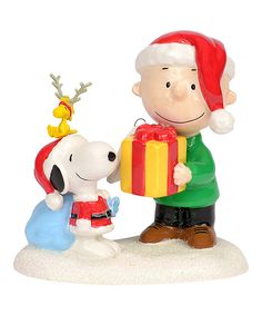 Look at this Peanuts Charlie & Snoopy This Gift's for You Figurine on #zulily today!