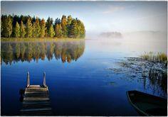 Finnland Seenlandschaft im Finnland Reiseführer http://www.abenteurer.net/1626-finnland-reisefuehrer/