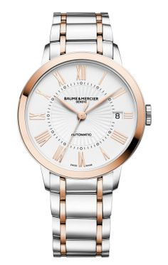 The round 36.5mm two-tone #Classima 10223 #watch comes with an automatic movement featuring date function and is delivered on a two-tone bracelet.