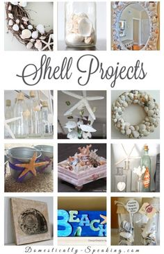 Shell Projects: DIY Seashell Crafts that are a great way to add some beachy / coastal decor in your home . These creative shell projects can be sell as crafts and make some money Seashell Art, Seashell Crafts, Beach Crafts, Seashell Decorations, Aisle Decorations, Summer Crafts, Crafts To Make, Fun Crafts, Arts And Crafts