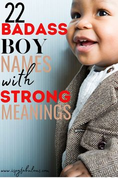These badass boy names are cool and have strong meanings. Finding your new favorite boy name just got a lot easier! #boynames #babynames Badass Boy Names, Cool Boy Names, Unique Boy Names, Girl Names, Best Boy Names, Italian Baby Names, Irish Baby Names, Celebrity Baby Names, Celebrity Babies