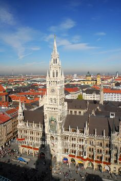 Munich, Germany.  My dad was born in Munich.  I can't wait to visit again. I want to show my son where he's grandfather was born & teach him about our heritage.