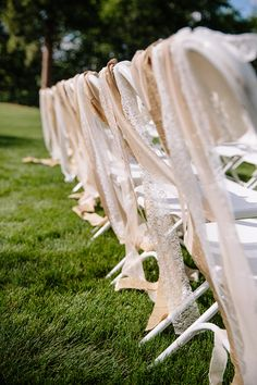 What a simple way to make plastic chairs fancy!