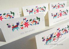 Wedding Stationery - Escort Card's - Mexico De Mis Amores. via Etsy.