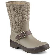 Sperry Top-Sider Women's Walker Fog Taupe Rope Rain Boot…