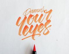I am bringing before you a collection of inspiring brush pen & crayola lettering examples by David Milan Brush Lettering Quotes, Brush Pen Calligraphy, Calligraphy Words, Calligraphy Handwriting, Types Of Lettering, Typography Letters, Cursive, Lettering Design, Penmanship
