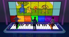 science museum. Interactive piano fao large format by Israel Antunez, via Behance