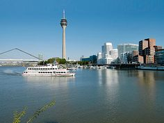 Rhine in Duesseldorf, Germany. Long time ago...