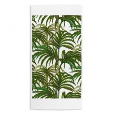 PALMERAL White / Green Hand Towel