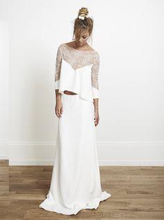 Crop Top Wedding Dress