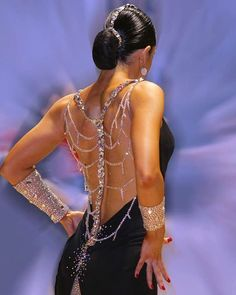 Glamorous dress for latin ballroom dance