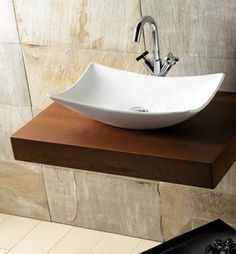 Love the sink. Add under sink storage Small Bathroom Sinks, Bathroom Windows, Bathroom Basin, Bathroom Toilets, Wood Bathroom, Washroom Design, Bathroom Tile Designs, Sink Design, Bathroom Interior Design