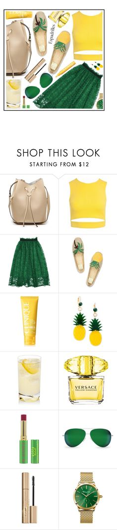 """style"" by sandevapetq ❤ liked on Polyvore featuring Sans Souci, Tory Burch, Clinique, Celebrate Shop, Versace, Tata Harper, Victoria Beckham, Stila and Thomas Sabo"