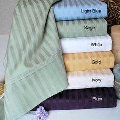 Egyptian Cotton 400 Thread Count Stripe 3-piece Duvet Set