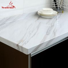 Modern Marble Vinyl Self Adhesive Wallpaper for Bathroom Kitchen Cupboard Table Wall Contact Paper PVC Waterproof Wall Stickers - for the DIY Enthusiast! Wall Stickers Roll, Wall Stickers Wallpaper, Cheap Wallpaper, Cheap Wall Stickers, Kitchen Wallpaper, Self Adhesive Wallpaper, Kitchen Cupboards, Kitchen Countertops, Vinyl Shelf