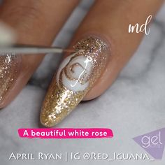 Make space for three more nail design ideas on your list! Nail Art Designs Videos, Nail Design Video, Nail Art Videos, Nail Designs, Rose Nail Art, Rose Nails, Gel Nail Art, Nagel Gel, Cute Acrylic Nails