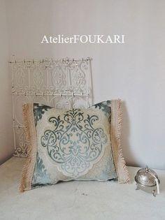 モロッコ*インテリア生地クッションカバー*パステルブルー- モロッコ雑貨とモロッコファッション|Atelier FOUKARI