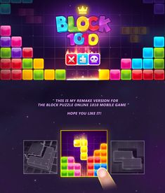 Block 1010 mobile game on Behance Kit Games, Games To Play, Gambling Games, Casino Games, Block Puzzle Game, Puzzle Games, Rhyming Games, Game Development Company, Shape Games