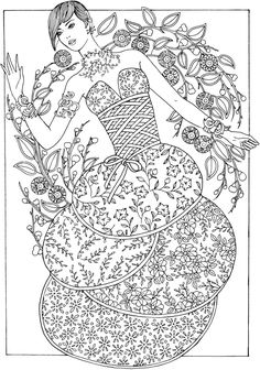 309 best Fashion Coloring Pages for Adults images on Pinterest in ...
