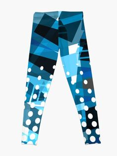 'Abstract Blue Array Arrangement' Leggings by CreatedProto Best Leggings For Work, Best Christmas Gifts, Workout Leggings, Artwork Prints, Fun Workouts, Knitted Fabric, Chiffon Tops, Latest Fashion, Abstract