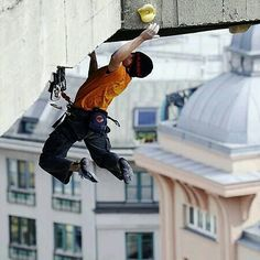 "(Faith): ""This, Mikey, is urban climbing."""