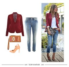 Get the Look  Blazer bordô + Calça jeans + Clutch funny + Scarpin lace up 3a164259022e0