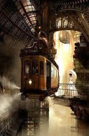 Resultado de imagem para steampunk trains station