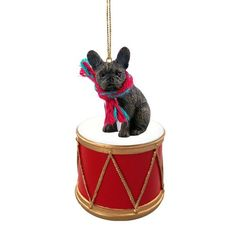 French Bulldog Drum Ornament