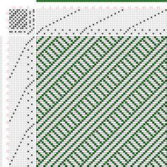 draft image: Figure 582, A Handbook of Weaves by G. H. Oelsner, 14S, 14T