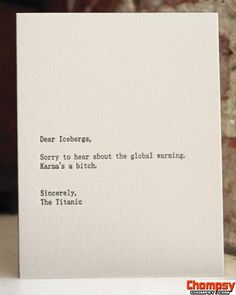 funny cards titanic