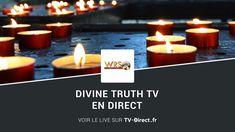 Divine Truth TV live, chaine de télévision africaine chrétienne en direct. Tv Direct, Direction, Live Tv, Tea Lights, Internet, African, Tea Light Candles