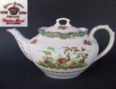 Royal Albert CHELSEA BIRD 4 Cup Tea Pot 1st Eng c1941 Reg No 839184