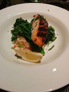 Salmon with broccoli  quinoa