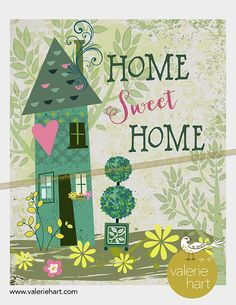 Save Water Poster Drawing, Cute Little Houses, New Art, Different Colors, Decoupage, Sweet Home, Clip Art, Printables, Lettering