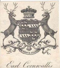 Ex Libris of James Cornwallis, later Mann, 5th Earl Cornwallis