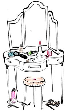 vanity - glamour! My amazing husband got me a super glam vanity for Christmas. Perfume, makeup & music!