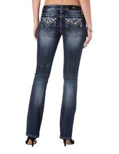 Miss Me Size 26 Womens Snowflake Slim Boot Jeans MP7285SB2 #MissMe #SlimBootCutBootCut
