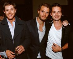 Jamie, Jensen Ackles and Sebastian Stan  Are you KIDDING ME??