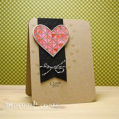 My Papercraft Corner Love you Card Card Kit, I Card, Stamp Card, Valentine Love Cards, Valentines, Paper Crafts, Card Crafts, Your Cards, Cardmaking