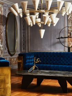 Galerie Glustin Paris Flea Markets, Contemporary Design, Creations, Chandelier, Couch, Ceiling Lights, Antiques, Sassy, Furniture