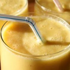 This tropical smoothie is perfect for rushed mornings. Just throw the ingredients in a blender and you're out the door in minutes. Recipe from Shockingly Delicious, found at www.edamam.com