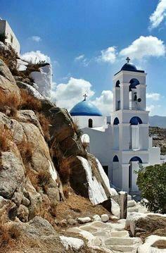 Church in Ios island