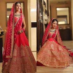 Brides of sabhyasachi ❤ ❤ 💟 Designer Bridal Lehenga, Bridal Lehenga Choli, Designer Lehanga, Designer Dresses, Wedding Lehnga, Punjabi Wedding, Wedding Dresses, Wedding Bride, Wedding Stuff