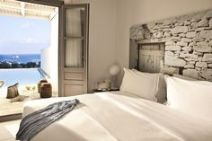 Located in Folegandros, an island that has kept its Aegean legacy untouched by time, Anemi boutique hotel was created to guarantee an amazing hospitality experience combining contemporary design and Cycladic architecture. Greece Design, Luxury Hotel Design, Luxury Suites, Luxury Hotels, Hotel Boutique, Greece Honeymoon, White Walls, Decoration, Beautiful Homes