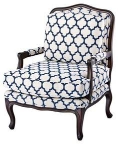 Perfect Moroccan Print Fabric On This Chair Is Gorgeous | Color Trend: Blue U0026 White  | Pinterest | Moroccan Print, Moroccan And Living Rooms