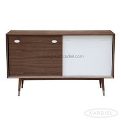 Elroy Credenza Cabinet, Mid-century Modern Sideboard, Walnut Wood  